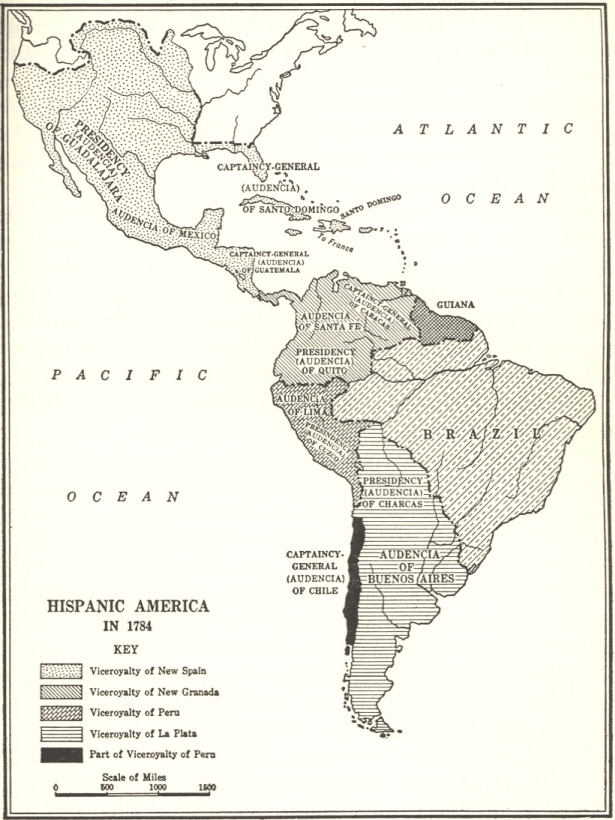 Colonial South America Map.Untitled Document