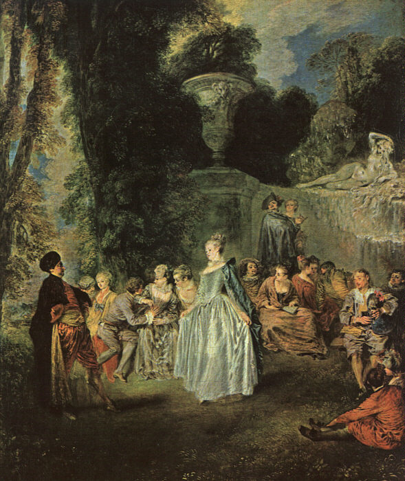 Web page template for Rococo period paintings